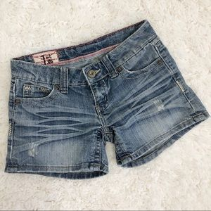 1st Kiss Distressed Denim Shorts 4 Inches
